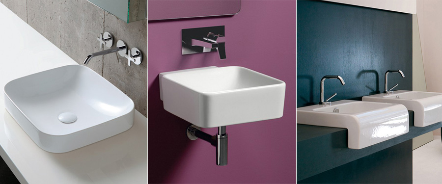 Lavabi bagno - Tipo di installazione